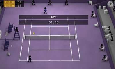 Screenshots of the Stickman Tennis for Android tablet, phone.