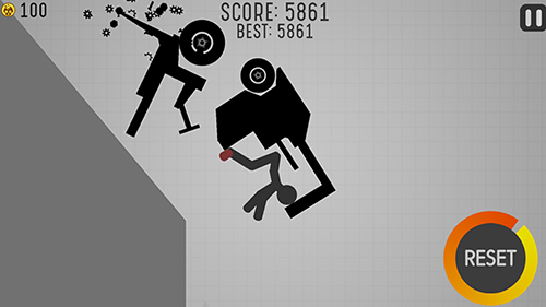 Stickman turbo dismount скриншот 2
