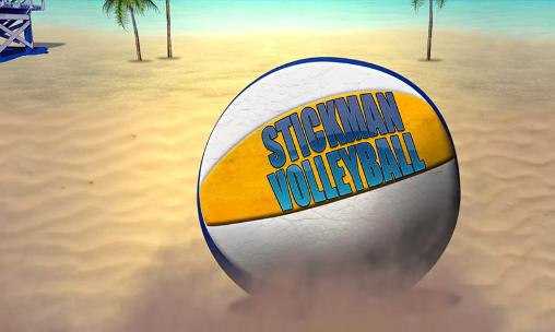 Stickman volleyball poster