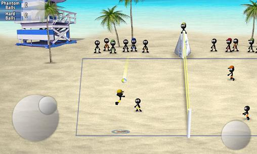 Kostenloses Android-Game Stickman Volleyball. Vollversion der Android-apk-App Hirschjäger: Die Stickman volleyball für Tablets und Telefone.