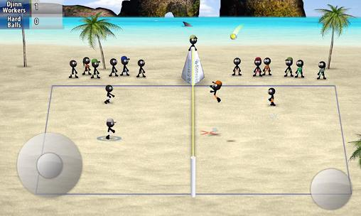 Геймплей Stickman volleyball для Android телефону.