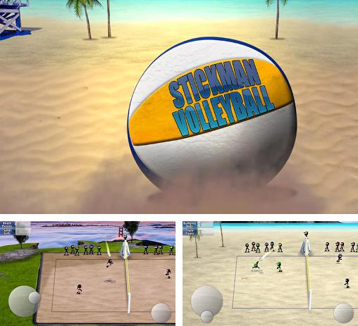 In addition to the game Stickman Tennis for Android phones and tablets, you can also download Stickman volleyball for free.