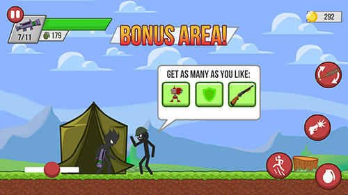 Stickman zombie shooter: Epic stickman games screenshot 1