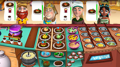 Écrans de Stone age chef: The crazy restaurant and cooking game pour tablette et téléphone Android.