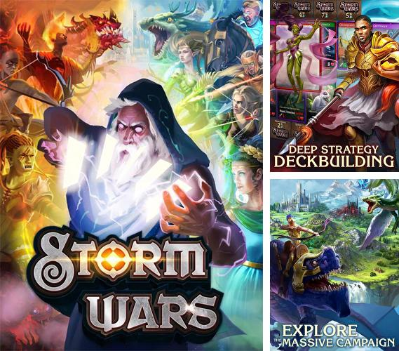 In addition to the game Lords and knights: Strategy MMO for Android phones and tablets, you can also download Storm wars CCG for free.