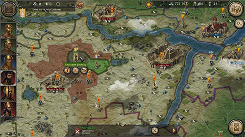 Screenshots of the Strategy and tactics: Dark ages for Android tablet, phone.