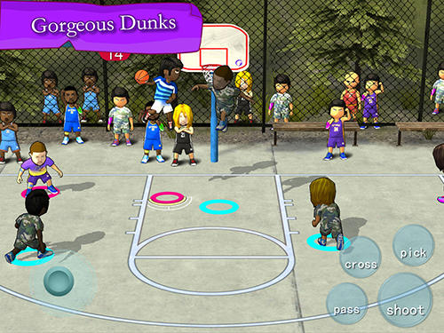 Screenshots of the Street basketball association for Android tablet, phone.
