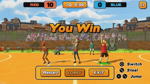 Screenshots of the Street dunk: 3 on 3 basketball for Android tablet, phone.