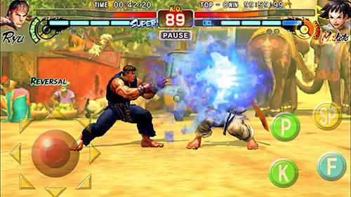 Геймплей Street Fighter 4 HD для Android телефону.