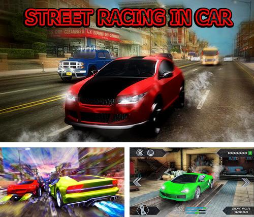 Street racing in car