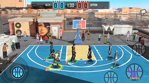 Kostenloses Android-Game Street Wars: Basketball. Vollversion der Android-apk-App Hirschjäger: Die Street wars: Basketball für Tablets und Telefone.