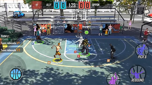 Screenshots von Street wars: Basketball für Android-Tablet, Smartphone.