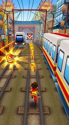 Screenshots do Subway surfers: World tour Beijing - Perigoso para tablet e celular Android.