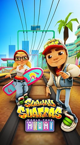 Subway surfers: World tour Miami poster