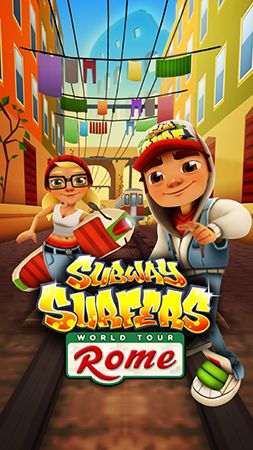 Subway surfers: World tour Rome poster