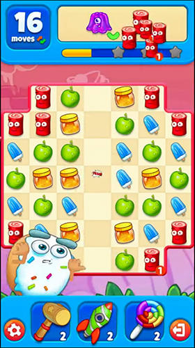 Screenshots von Sugar heroes: World match 3 game! für Android-Tablet, Smartphone.