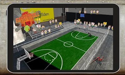 Screenshots of the Super Basketball 3D Tegra Pro for Android tablet, phone.