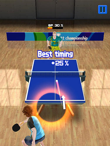 Super rally table tennis für Android spielen. Spiel Super Rally Tischtennis kostenloser Download.