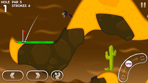 Kostenloses Android-Game Super Stickman Golf 3. Vollversion der Android-apk-App Hirschjäger: Die Super stickman golf 3 für Tablets und Telefone.