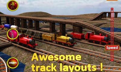 Screenshots of the SuperTrains for Android tablet, phone.