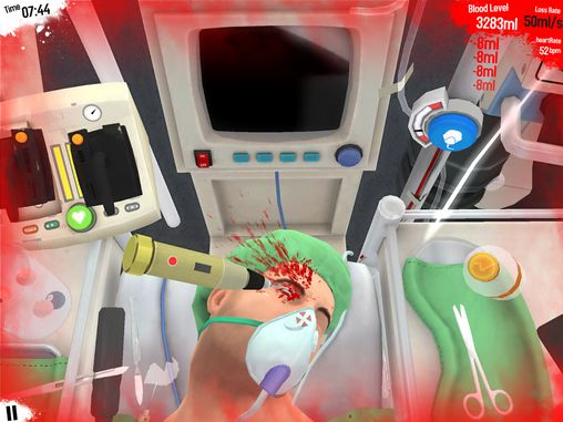 Kostenloses Android-Game Chirurg Simulator. Vollversion der Android-apk-App Hirschjäger: Die Surgeon simulator für Tablets und Telefone.