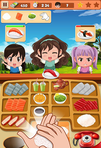 Sushi restaurant craze: Japanese chef cooking game screenshot 1