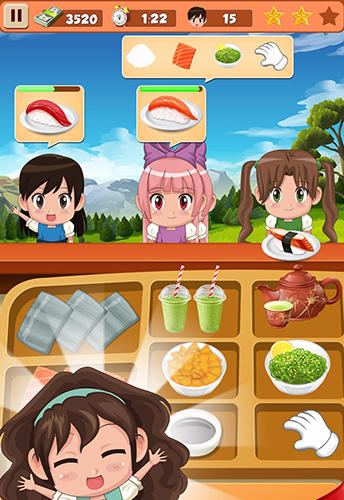 Sushi restaurant craze: Japanese chef cooking game screenshot 3
