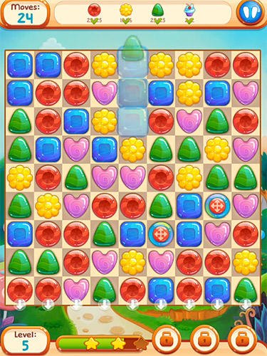 Гра Sweet candies 2: Cookie crush candy match 3 на Android - повна версія.