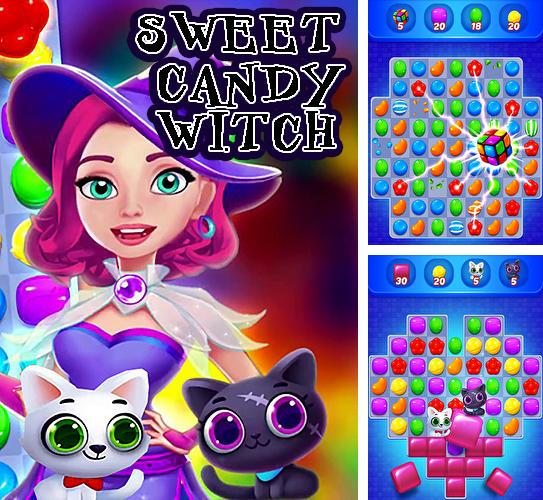 Sweet candy witch: Match 3 puzzle