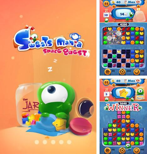 Además del juego Pororo: Carrera de pingüino para teléfonos y tabletas Android, también puedes descargarte gratis Sweet mania: Space quest. Game candies three in a row.