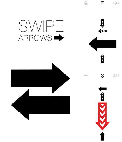 Swipe arrows