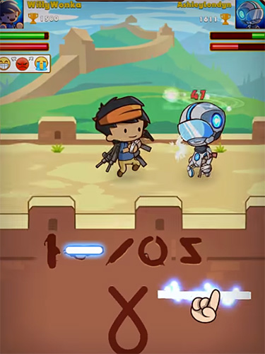 Screenshots do Swipe fighter heroes: Fun multiplayer fights - Perigoso para tablet e celular Android.