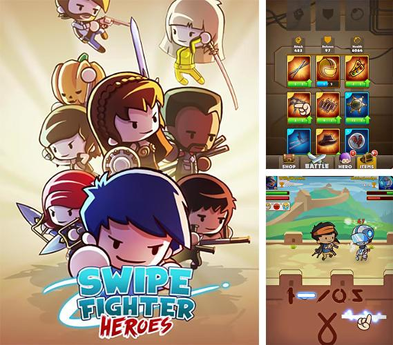 Swipe fighter heroes: Fun multiplayer fights