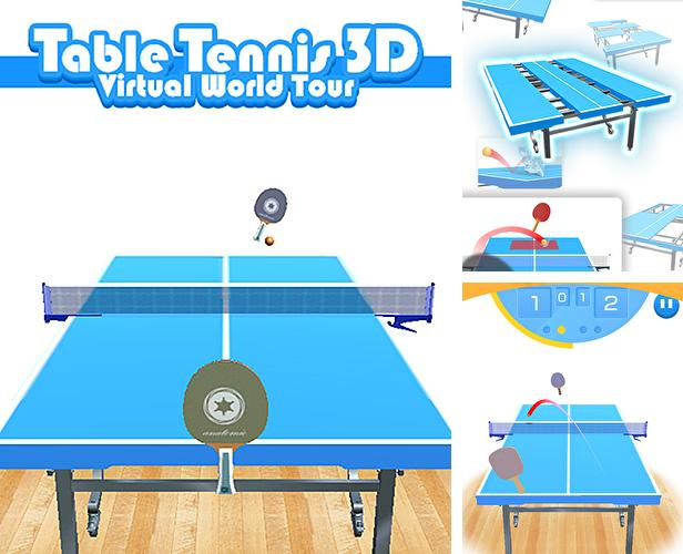Zusätzlich zum Spiel Shell Rennen für Android-Telefone und Tablets können Sie auch kostenlos Table tennis 3D virtual world tour ping pong Pro, Tischtennis 3D: Virtuelle Welttour herunterladen.