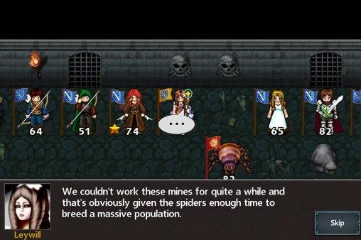 Screenshots of the Tactics maiden for Android tablet, phone.