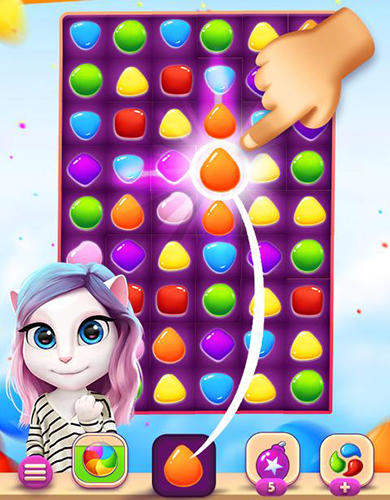 Screenshots von Talking Angela color splash für Android-Tablet, Smartphone.