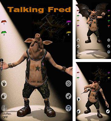 In addition to the game Talking Harry the Hedgehog for Android phones and tablets, you can also download Talking Fred for free.