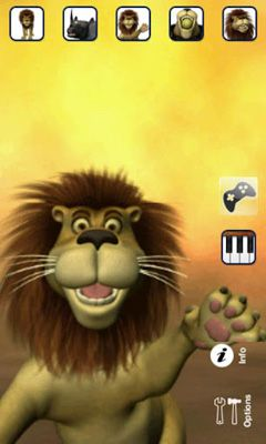 Screenshots of the Talking Luis Lion for Android tablet, phone.
