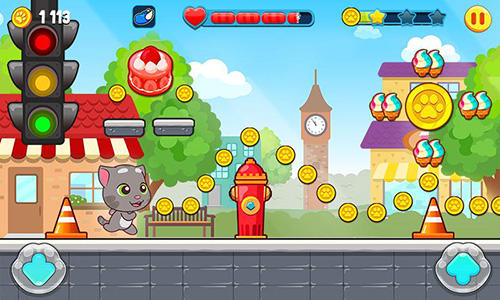 Screenshots von Talking Tom candy run für Android-Tablet, Smartphone.