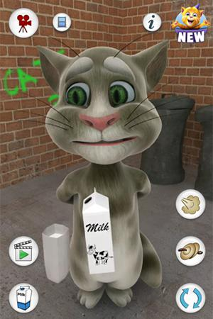 Screenshots von Talking Tom Cat v1.1.5 für Android-Tablet, Smartphone.