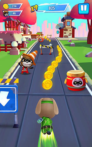 Screenshots von Talking Tom hero dash für Android-Tablet, Smartphone.