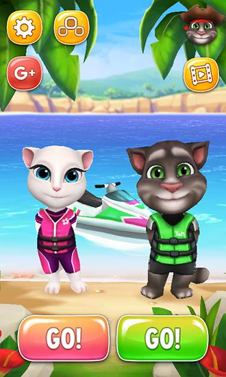 Talking Tom jetski screenshot 1