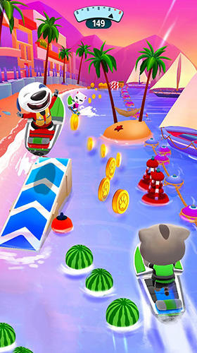 Screenshots do Talking Tom jetski 2 - Perigoso para tablet e celular Android.