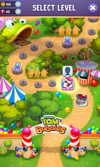 Screenshots von Talking Tom's bubbles für Android-Tablet, Smartphone.