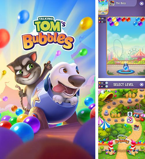 In addition to the game Talking Tom jetski for Android phones and tablets, you can also download Talking Tom's bubbles for free.