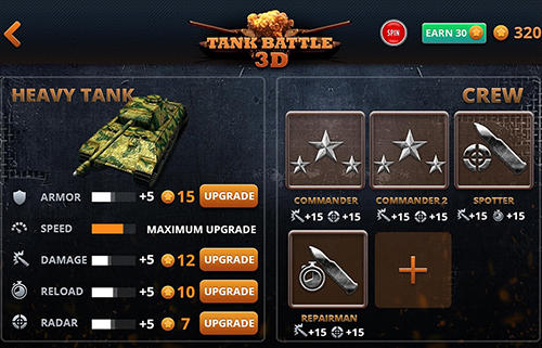 Kostenloses Android-Game Panzerkampf 3D: Zweiter Weltkrieg. Vollversion der Android-apk-App Hirschjäger: Die Tank battle 3D: WW2 warfare für Tablets und Telefone.