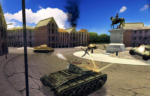 Screenshots von Tank battle 3D: WW2 warfare für Android-Tablet, Smartphone.