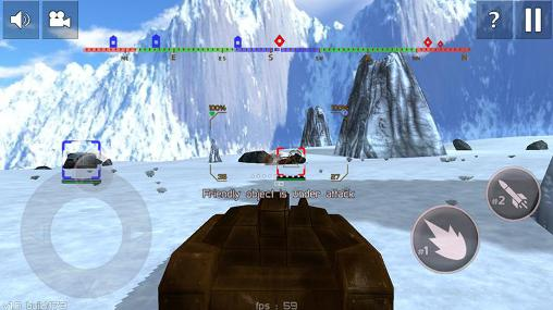 Screenshots von Tank combat: Future battles für Android-Tablet, Smartphone.