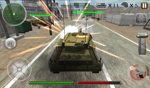 Tank defense attack 3D screenshot 1