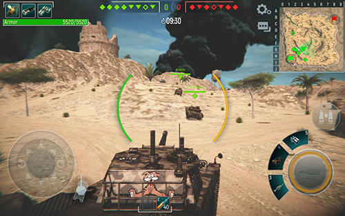 Android タブレット、携帯電話用Tank force: Real tank war onlineのスクリーンショット。